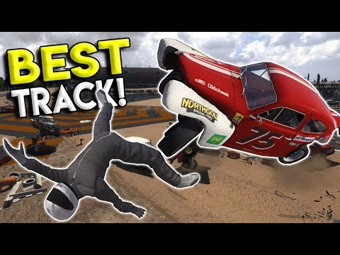 LAWN MOWER DERBY & BEST TRACK IN THE GAME?!? - Next Car Game: Wreckfest Gameplay - Wrecks & Races