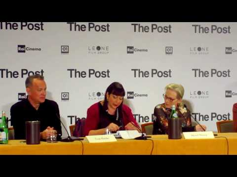 THE POST I Steven Spielberg, Tom Hanks, Meryl Streep Press Conference Milano