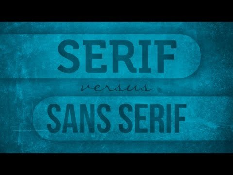 Serif vs San Serif | Graphic Design Tips from PrintPlace.com
