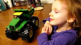 John Deere Monster Treads Shake 'n Sounds Dump Truck Demo