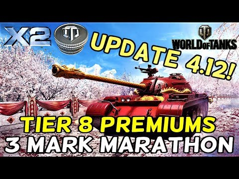 UPDATE 4.12 IS HERE!!! || 3 Marks Marathon (Tier 8 Premiums) || World Of Tanks: Mercenaries