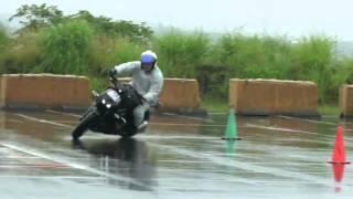 Motogymkhana in rain  Z1000