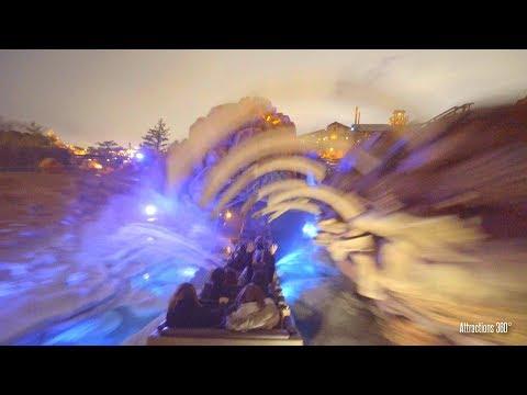 [4K] Tokyo Big Thunder Mountain Roller Coaster Train Ride