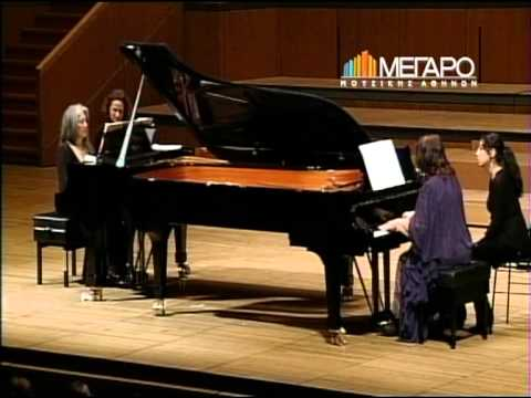 Martha Argherich - Dora Bacopoulos playing Schostakovitch Concertino