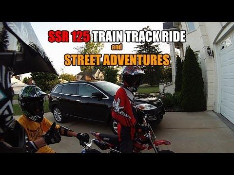 SSR 125 Pit Bike Train Track Riding