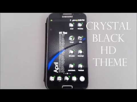 Crystal Black HD Theme for Apex/Go Launcher/ADW/Nova