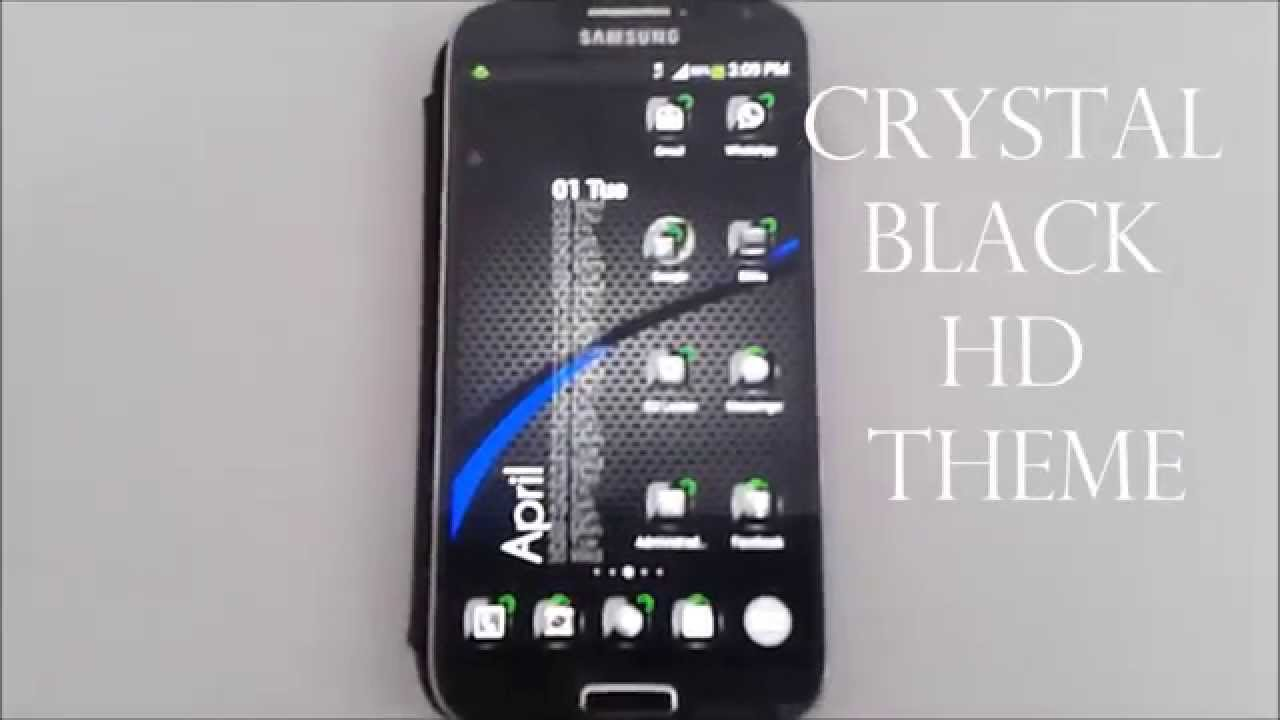 crystal black hd theme for apex go launcher adw nova youtube
