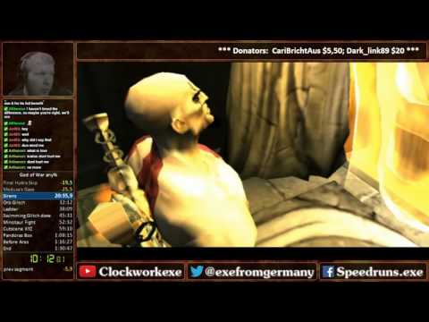 God of War 1 any% RTA [1:30:12] WR