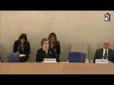 Ms. Yanghee Lee, UN Special Rapporteur's Concluding Remark on Human Rights abuses against Rohingya
