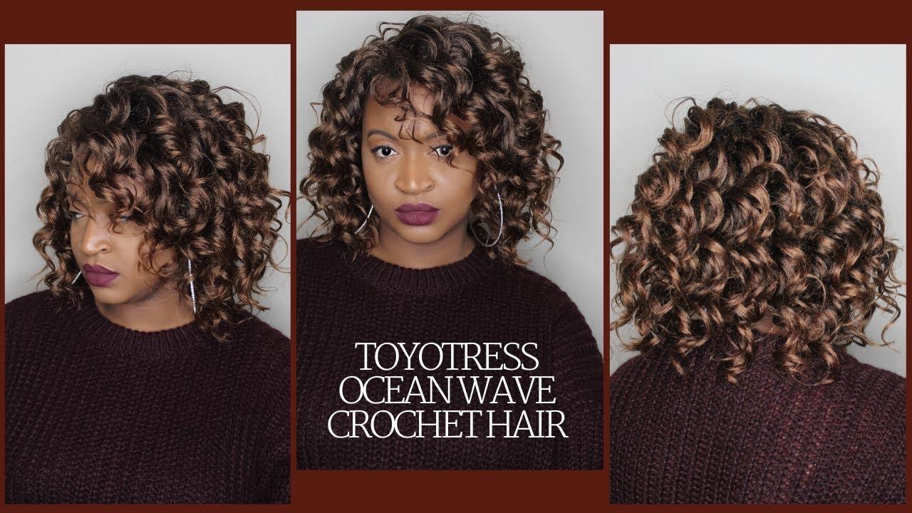 Ocean Wave Crochet Hair By Toyotress Tutorial Curly Hair Style Bob Style Amazon Hair Youtube