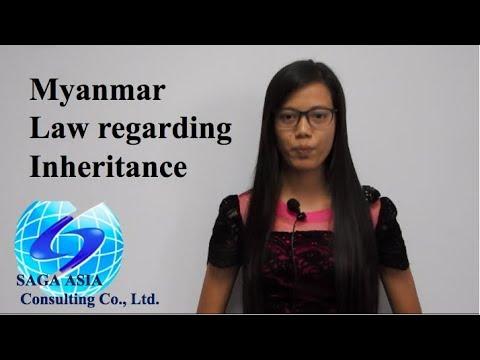 Law regarding Inheritance in Myanmar