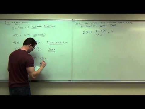 Calculus 1 Lecture 2.4:  Applications of the Derivative