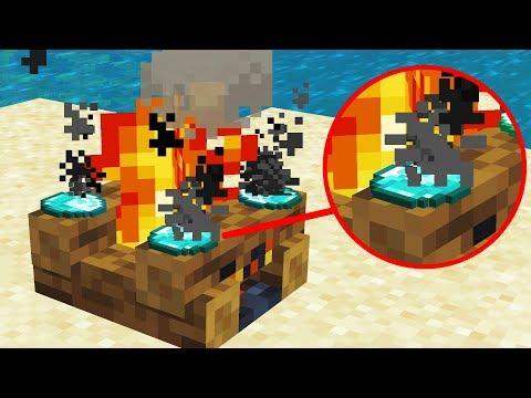 Cooking Diamonds on a Campfire (Minecraft 1.14 Snapshot)