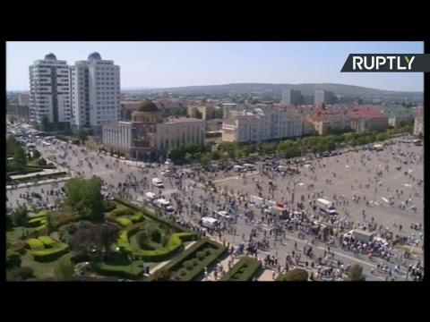 В Грозном проходит многотысячный митинг против преследования мусульман рохинджа в Мьянме