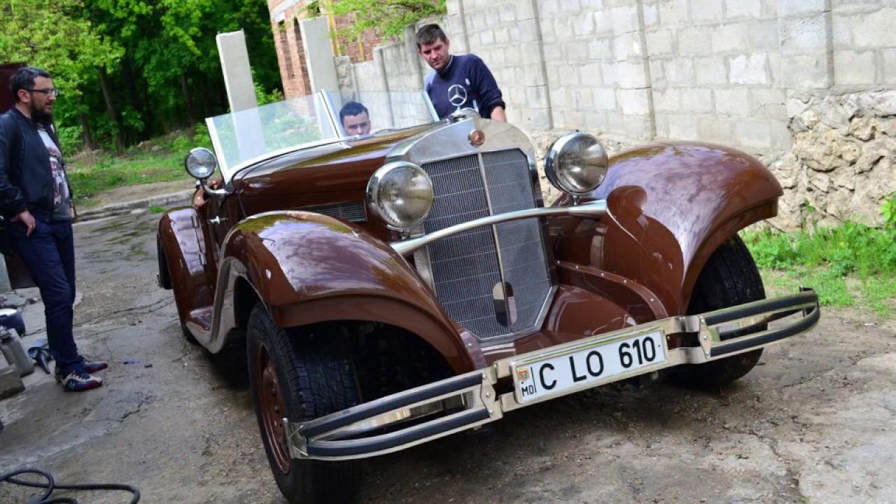Mercedes Benz - homemade retro car. Ретро Мерседес своими руками