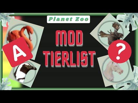 105 MODDED ANIMALS - TIERLIST! - Planet Zoo |
