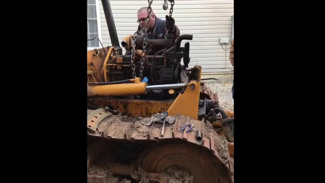 removing a john deere 450c 1977 bulldozer engine motor december 2016 turbo  diesel