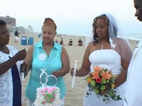 Ocean City MD Beach  Wedding in front of the Quality Inn