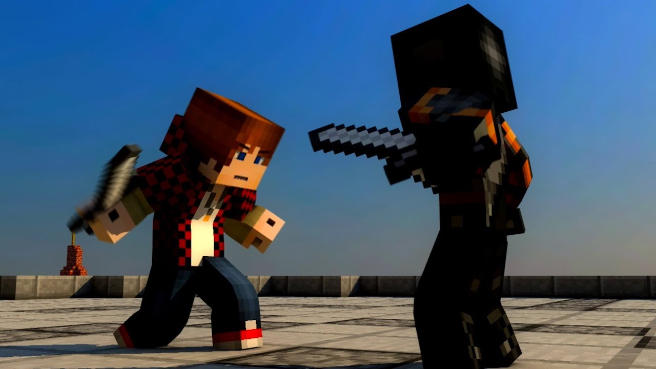 BajanCanadian Fight Minecraft Animation YouTube