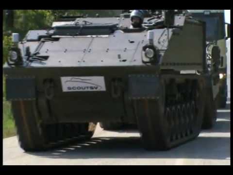 General Dynamics UK - Scout SV Mobility Test Rig (MTR) At St Valentin Load Test [480p]