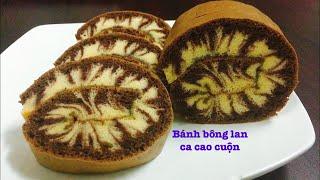Cách Làm Bánh Bông Lan Ca Cao cuộn mềm xốp, thơm ngon