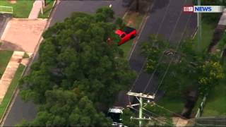 Police helicopter footage shows high-speed pursuit through