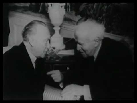 Ben-Gurion and Adenauer Meet 1960