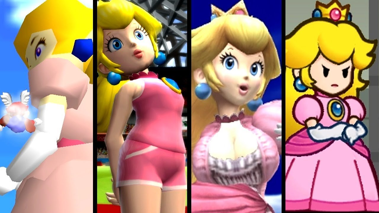 Super Mario Top 10 GIANTESS PEACH Mods (N64 - Wii U)