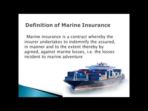 Types of marine insurance