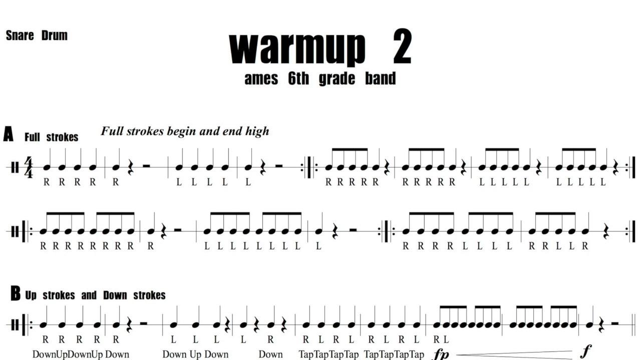 Snare Drum Warm Ups : marching snare drum warm ups ~ Russianpoet.info Haus und Dekorationen