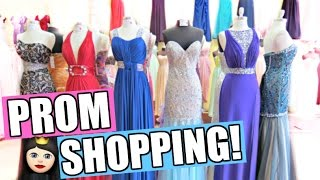SHOPPING FOR PROM DRESSES!