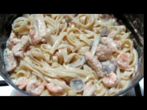 Easy Chicken And Shrimp Alfredo - TRINIDAD