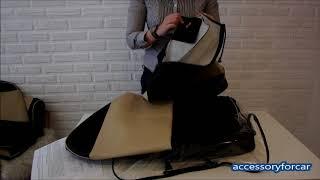 видео Модельные чехлы Toyota RUSH/Daihatsu BE-GO 06-12 черные