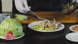 Тёплый салат с морепродуктами  от шефа караоке ресторана Шпилька