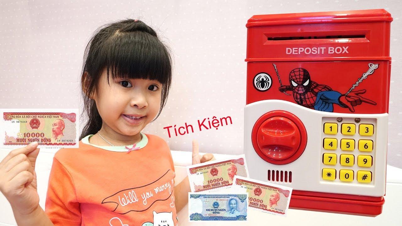Trò Chơi Máy Tích Kiệm Tiền Mini   Đồ Chơi Trẻ Em Bé Bún Bé Bắp ♥CreativeKids ♥