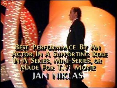 Jan Niklas Wins Best Supporting Actor TV Series  Golden Globes 1987