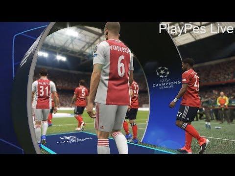 PES 2019 - AJAX vs BAYERN MUNCHEN - Full Match & All Goals - UEFA Champions League - PC Gameplay HD