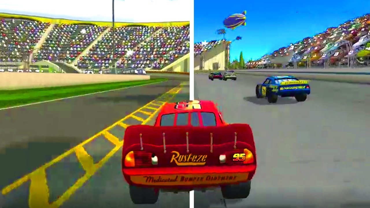 Cars 1 The Videogame 360 Lightning Mcqueen Vs All Piston Cup Races