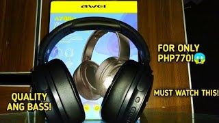 Awei A780BL Foldable Bluetooth 5.0 Wireless Stereo Headphones With Quick Review!