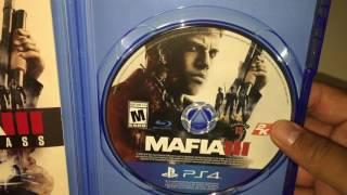 Unboxing Mafia 3 Deluxe Edition Early PS4