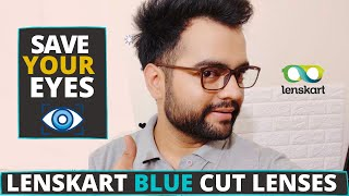 Lenskart Blu cut Anti glare Smartphone Lenses Review|Benefits|Protect Your Eyes|Unboxing|Frame FREE