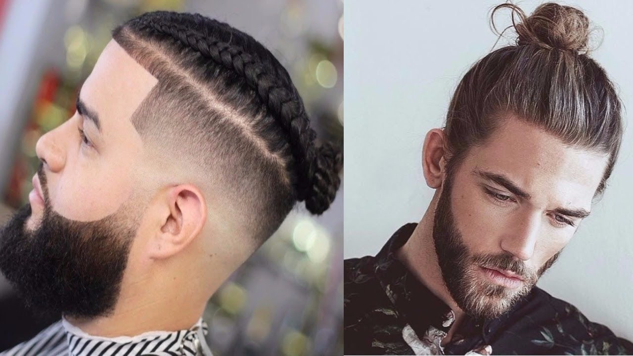 Top 20 Man Bun Hairstyles 2018 20 Braided Top Knot Man Bun