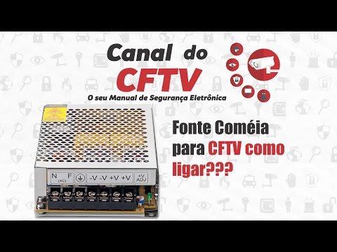 Fonte Coméia para CFTV como ligar???