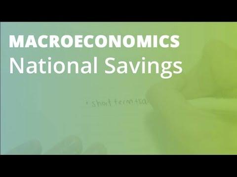 National Savings | Macroeconomics