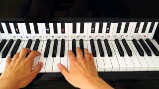 Lær at spille klaver: Den himmelblå