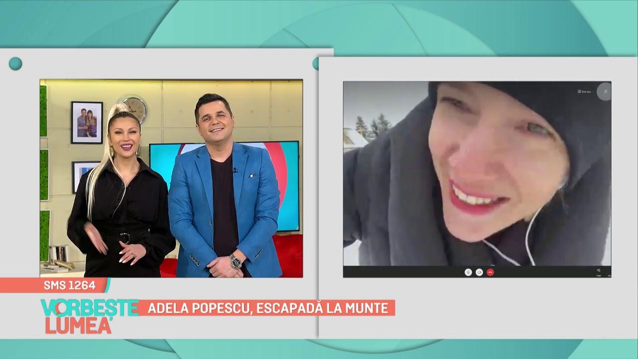 Adela Popescu, escapadă la munte