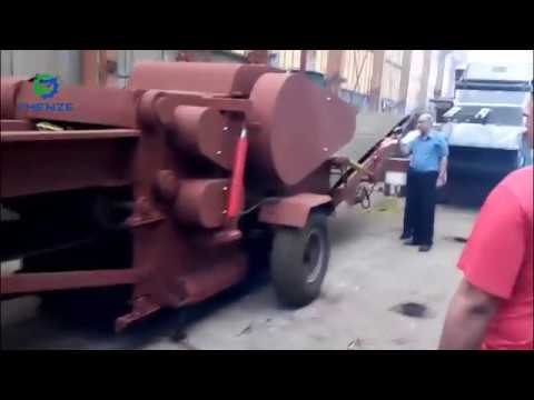 Mobile Drum Wood Chipper BX218 Crusher Testing With Straw древесная дробилка