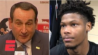 Cam Reddish, Coach K, RJ Barrett on Duke's game-winner | College Basketball