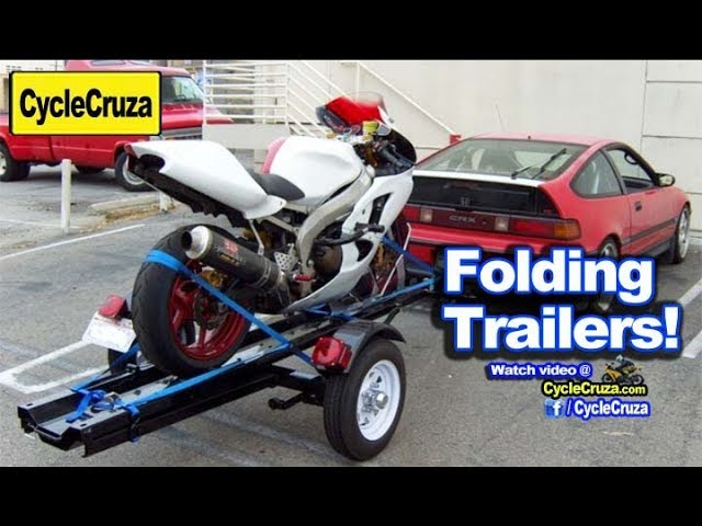 Folding Motorcycle Trailers Any Good Saves Space Top 4 Youtube