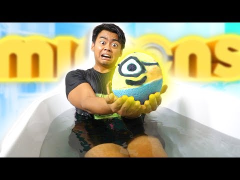 Thumbnail: DIY GIANT MINION BATH BOMB CHALLENGE!